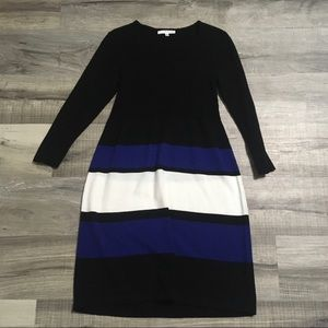 Studio One colorblock sweater dress. Large